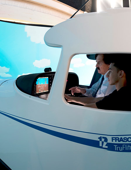 Teacher with student learning in simulator