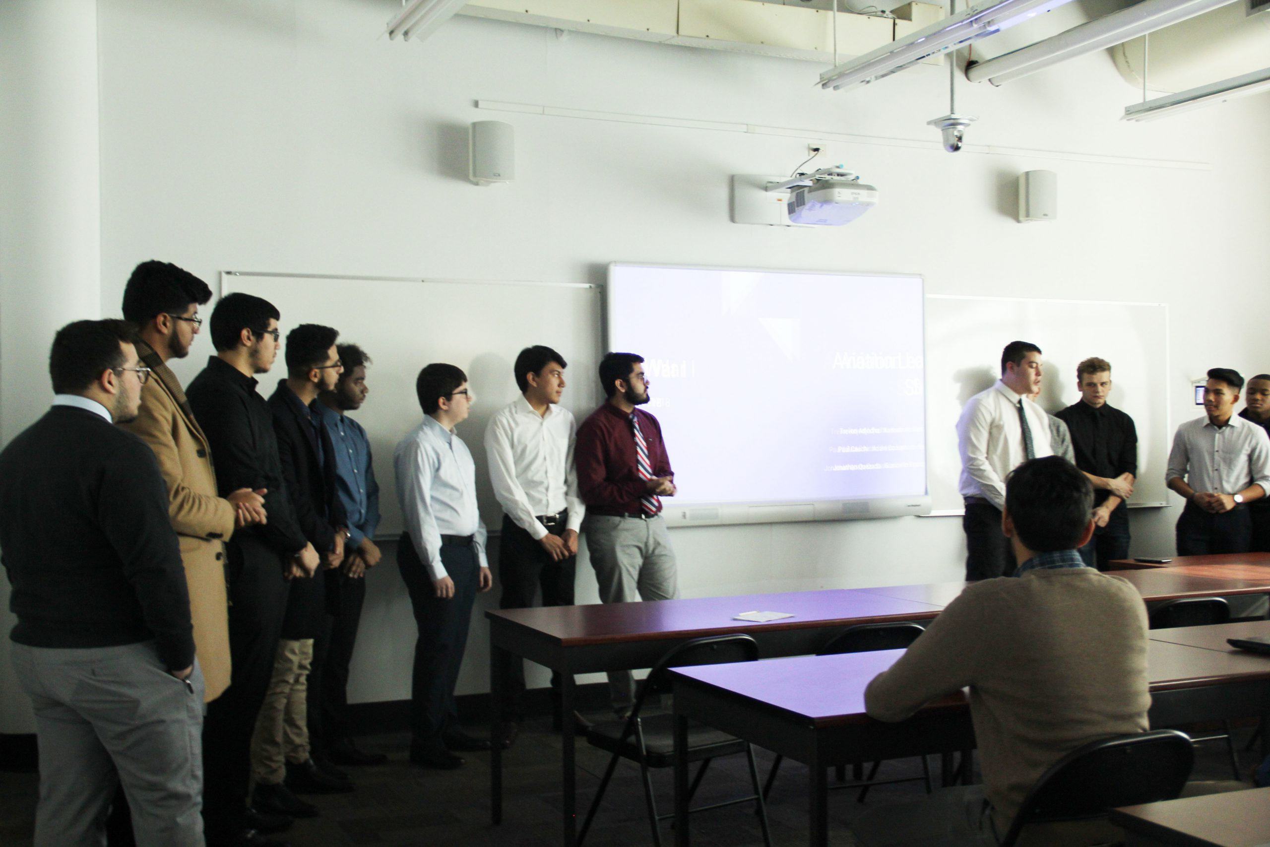 Freshman Engineering and Aviation Students Present for Vaughn Learning Communities