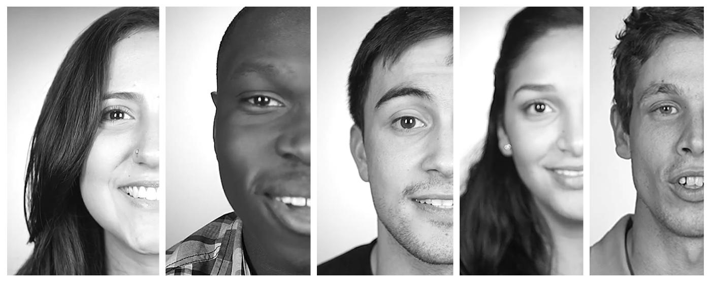 the ambassadors, black and white photo