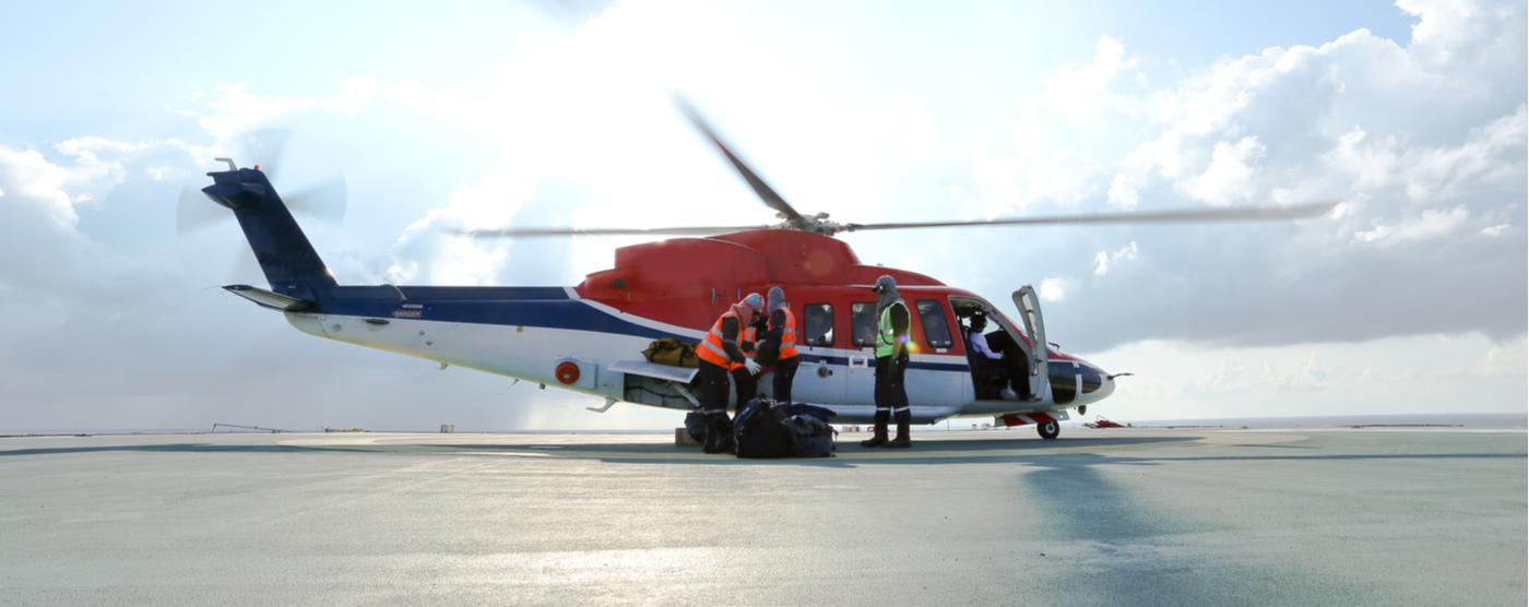 Helicopter making rescue