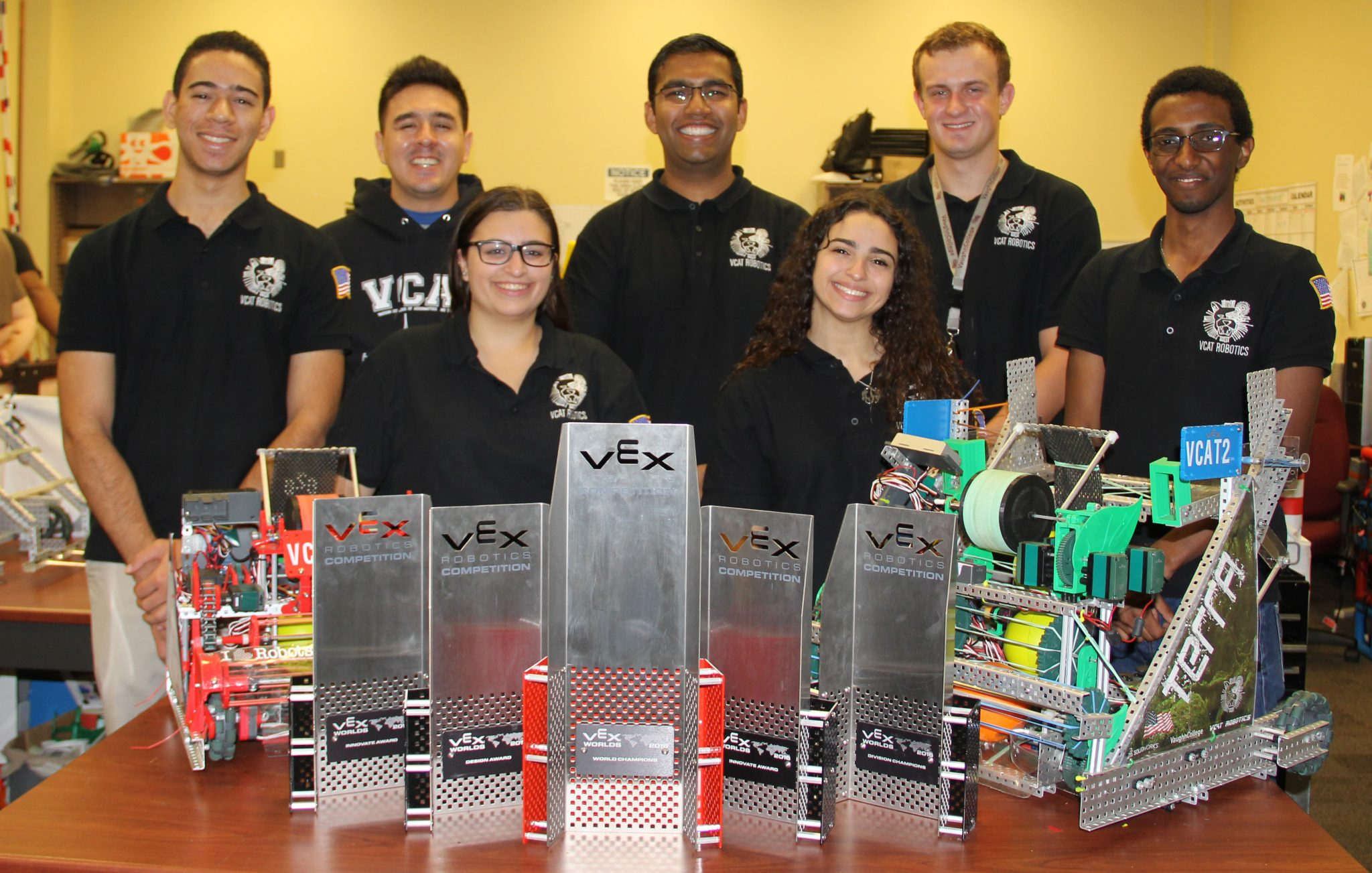 Vaughn College World Champion Robotics Team