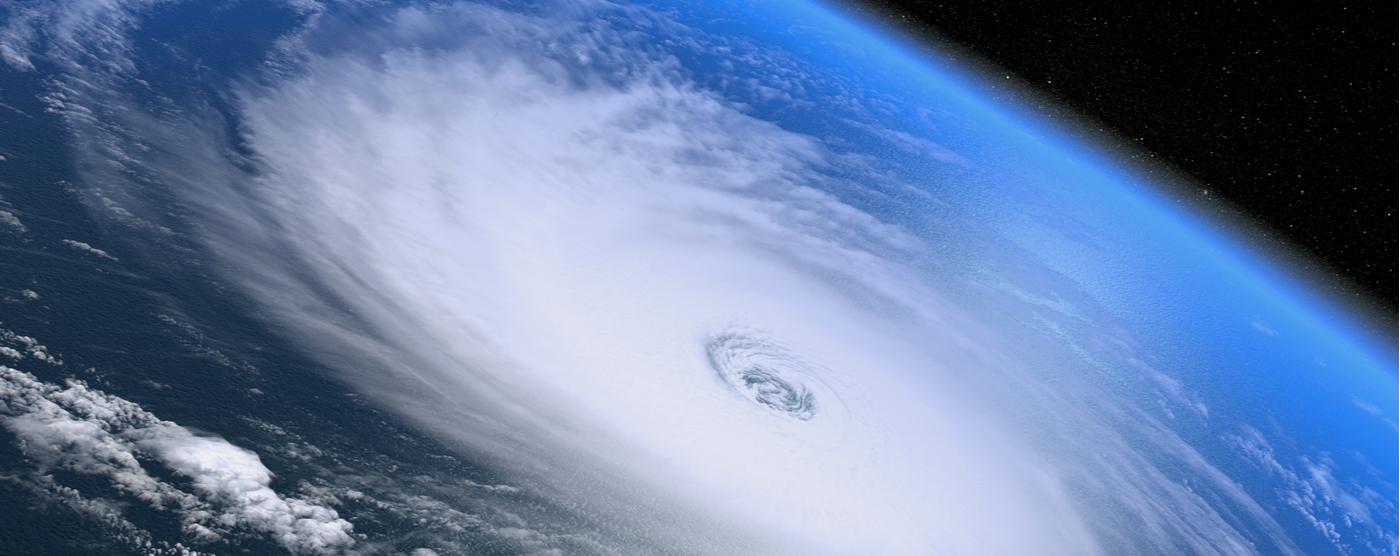 Hurricane from satellite view