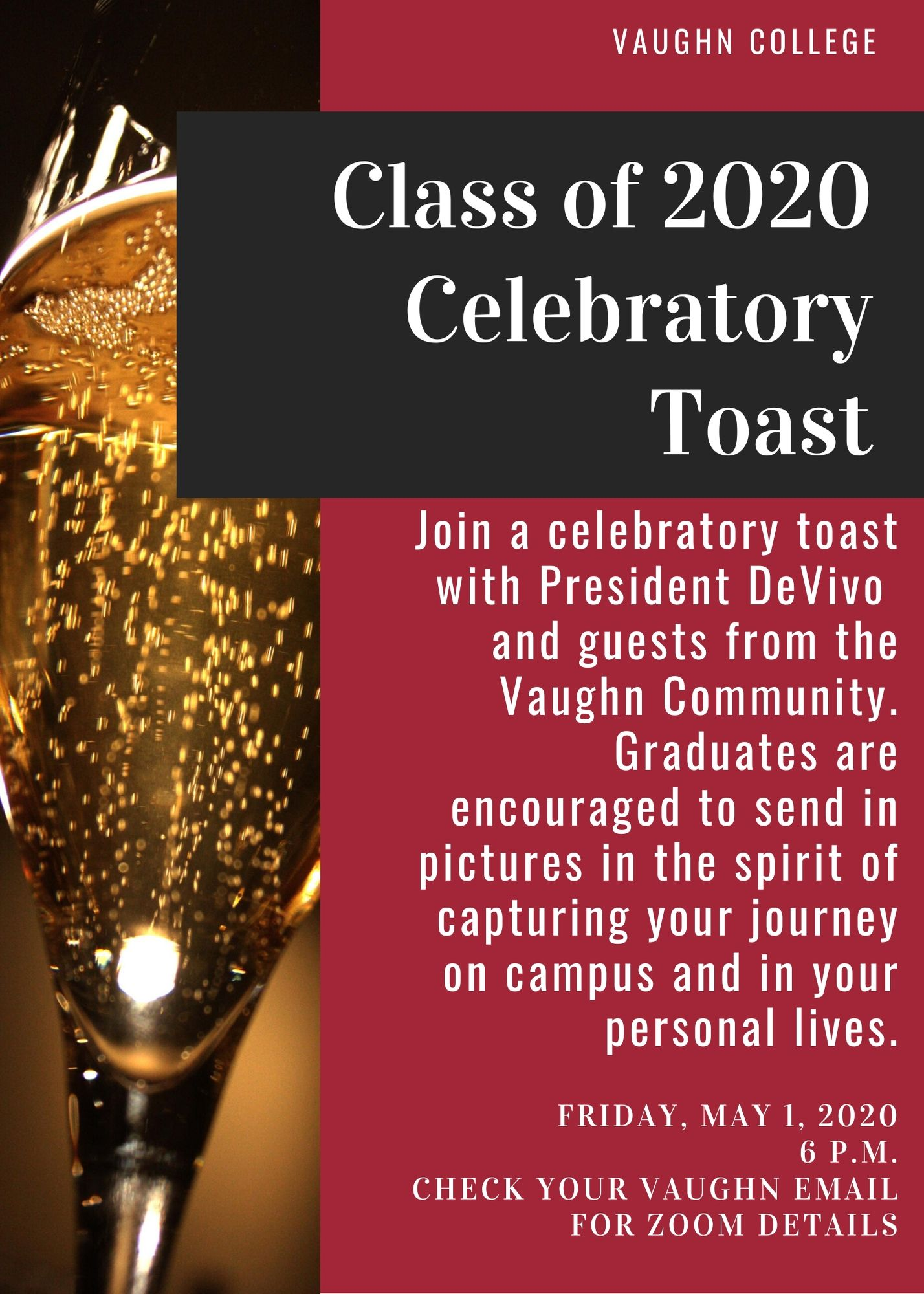Vaughn Virtually Toasts the Class of 2020