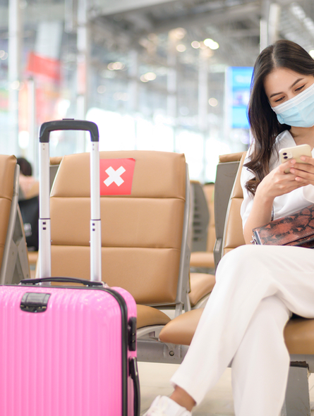 Women sitting in airport