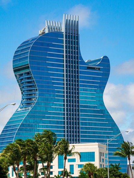 Hard Rock Hotel Guitar in Hollywood, FL