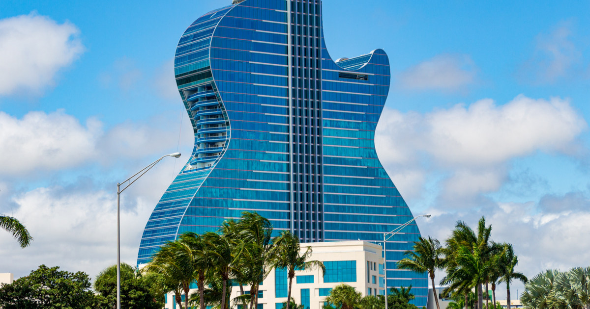 Hard Rock Hotel Guitar, Hollywood, FL