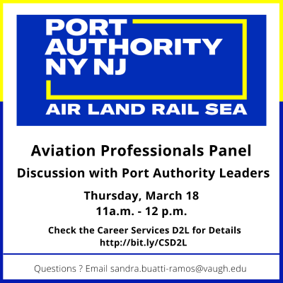 Career Services Hosts Aviation Professionals Panel Featuring The Port Authority of New York and New Jersey