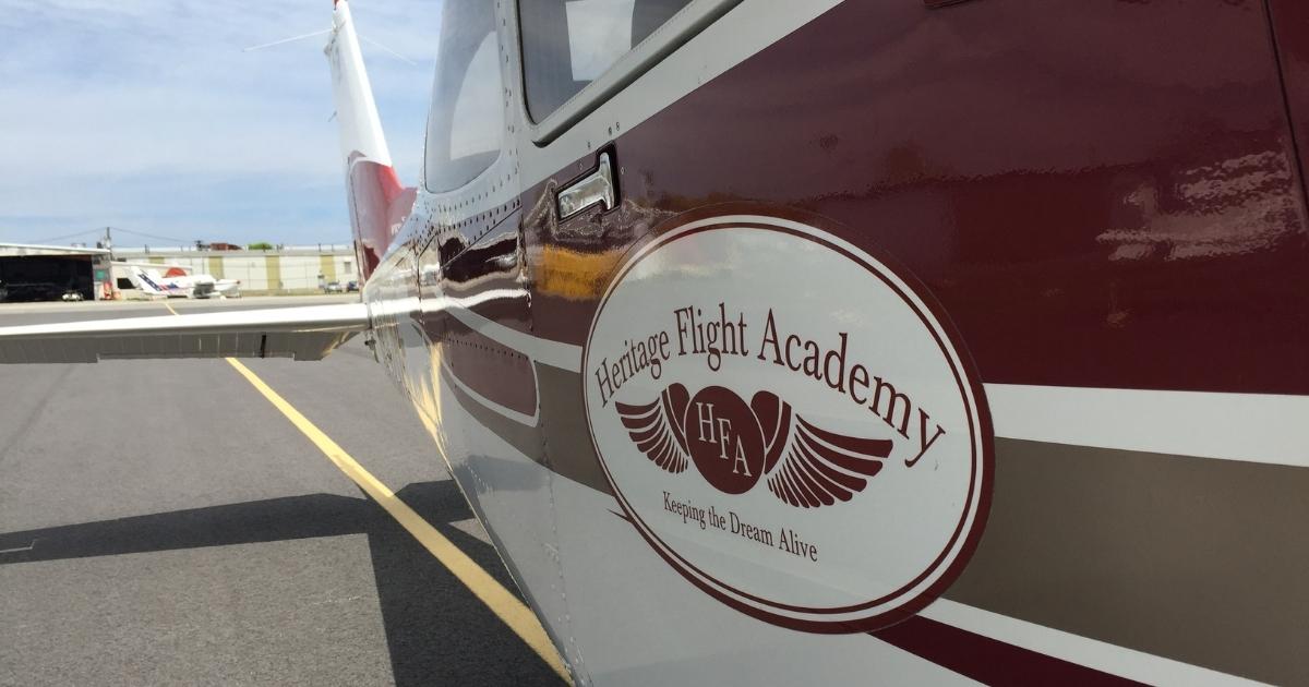 Heritage Flight Academy plane