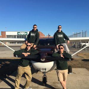 Four Vaughn flight students at Heritage