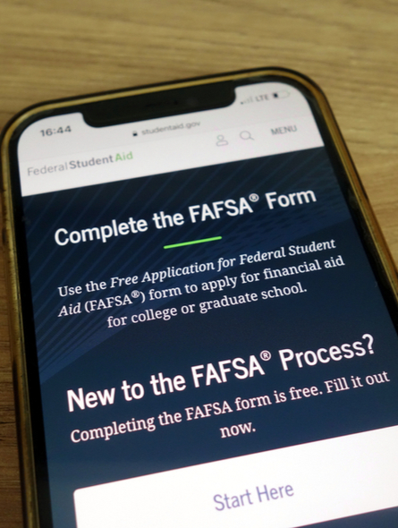 Vaughn can help with completing your FAFSA application